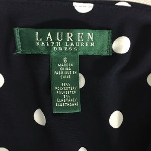Ralph Lauren Dresses - Ralph Lauren polkadot Navy and white dress size 6